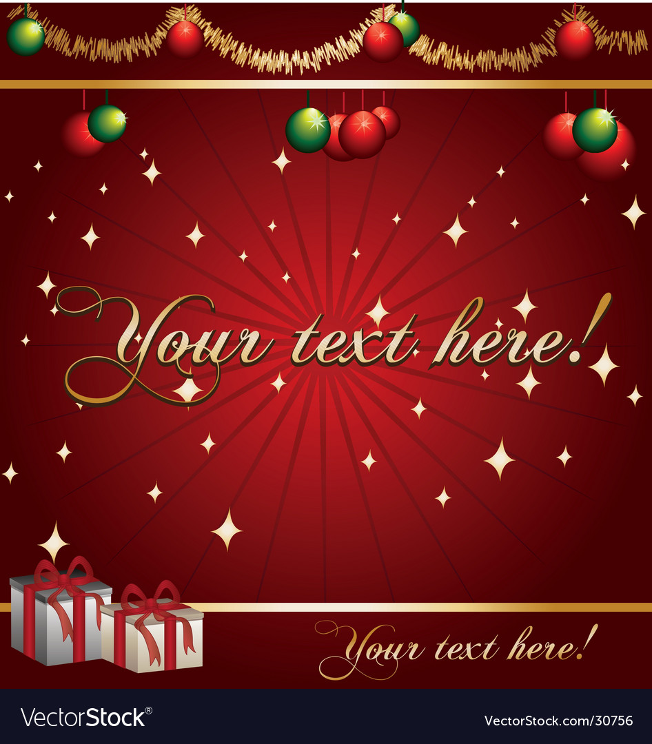 Christmas-background vector | Price: 1 Credit (USD $1)