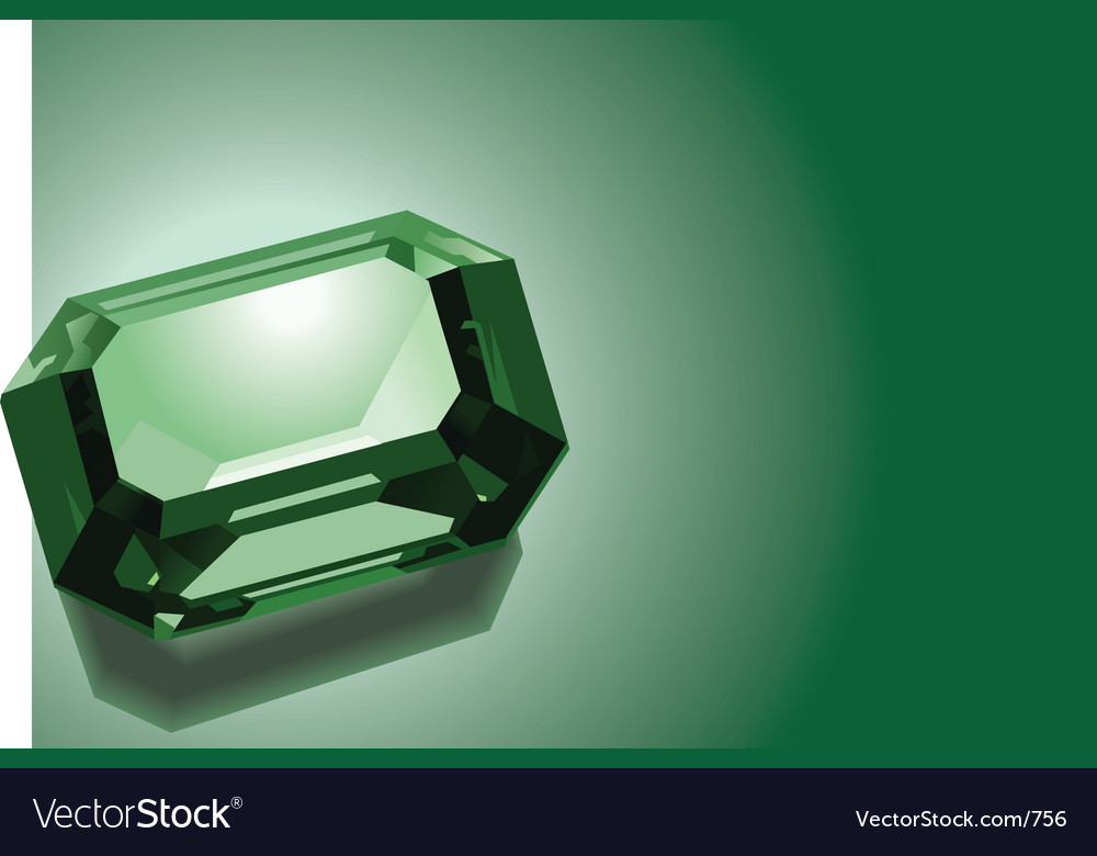Emerald vector | Price: 3 Credit (USD $3)