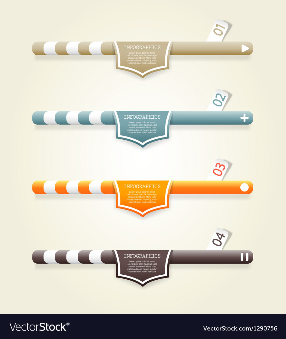 Four colored web banners vector | Price: 1 Credit (USD $1)