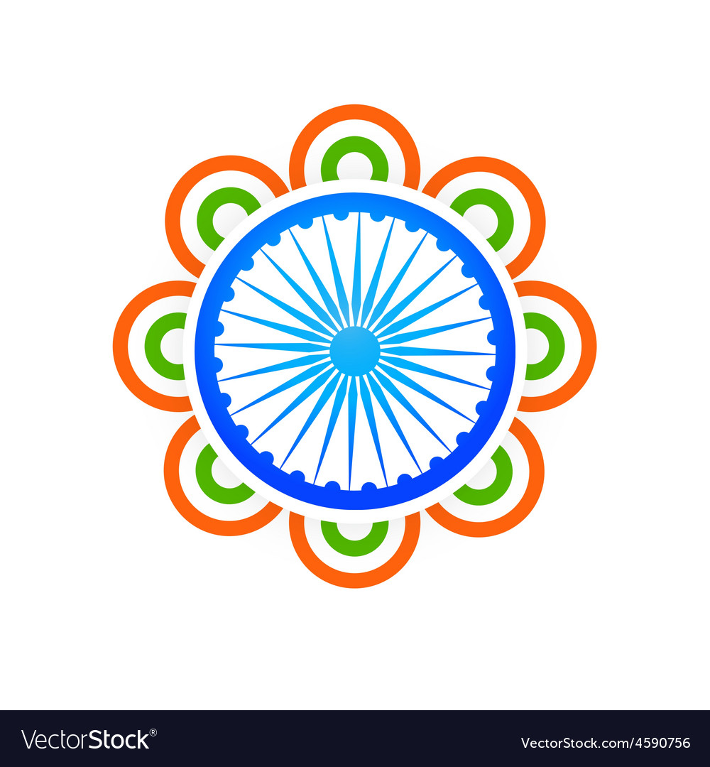 Indian flag design concept vector | Price: 1 Credit (USD $1)