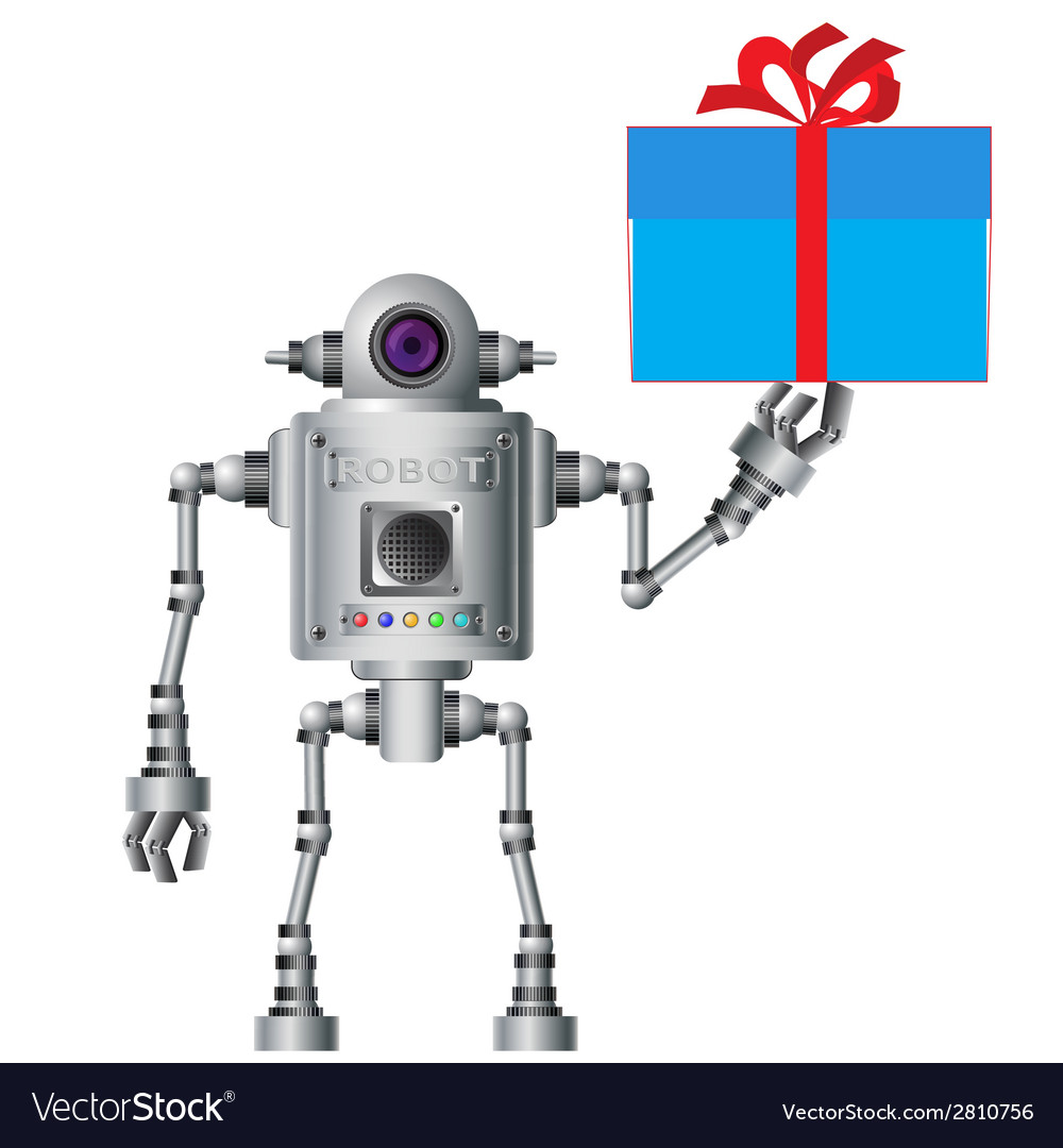 Little robot electronic computer device vector | Price: 1 Credit (USD $1)
