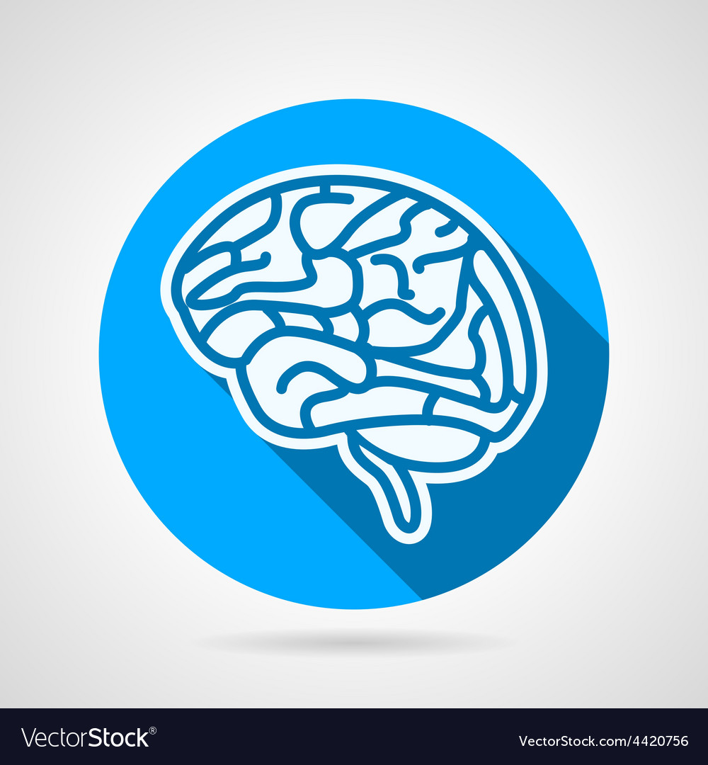 Round icon for brain vector | Price: 1 Credit (USD $1)