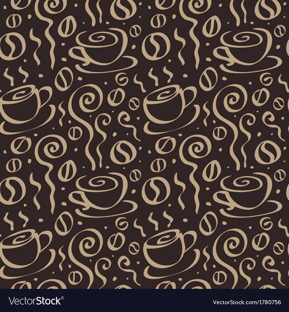 Seamless coffee background vector | Price: 1 Credit (USD $1)