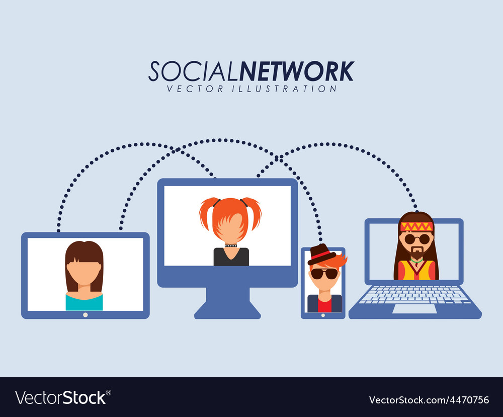 Social network vector   Price: 1 Credit (USD $1)