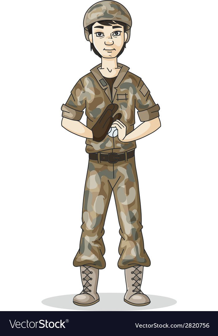 Soldier baseball vector | Price: 1 Credit (USD $1)