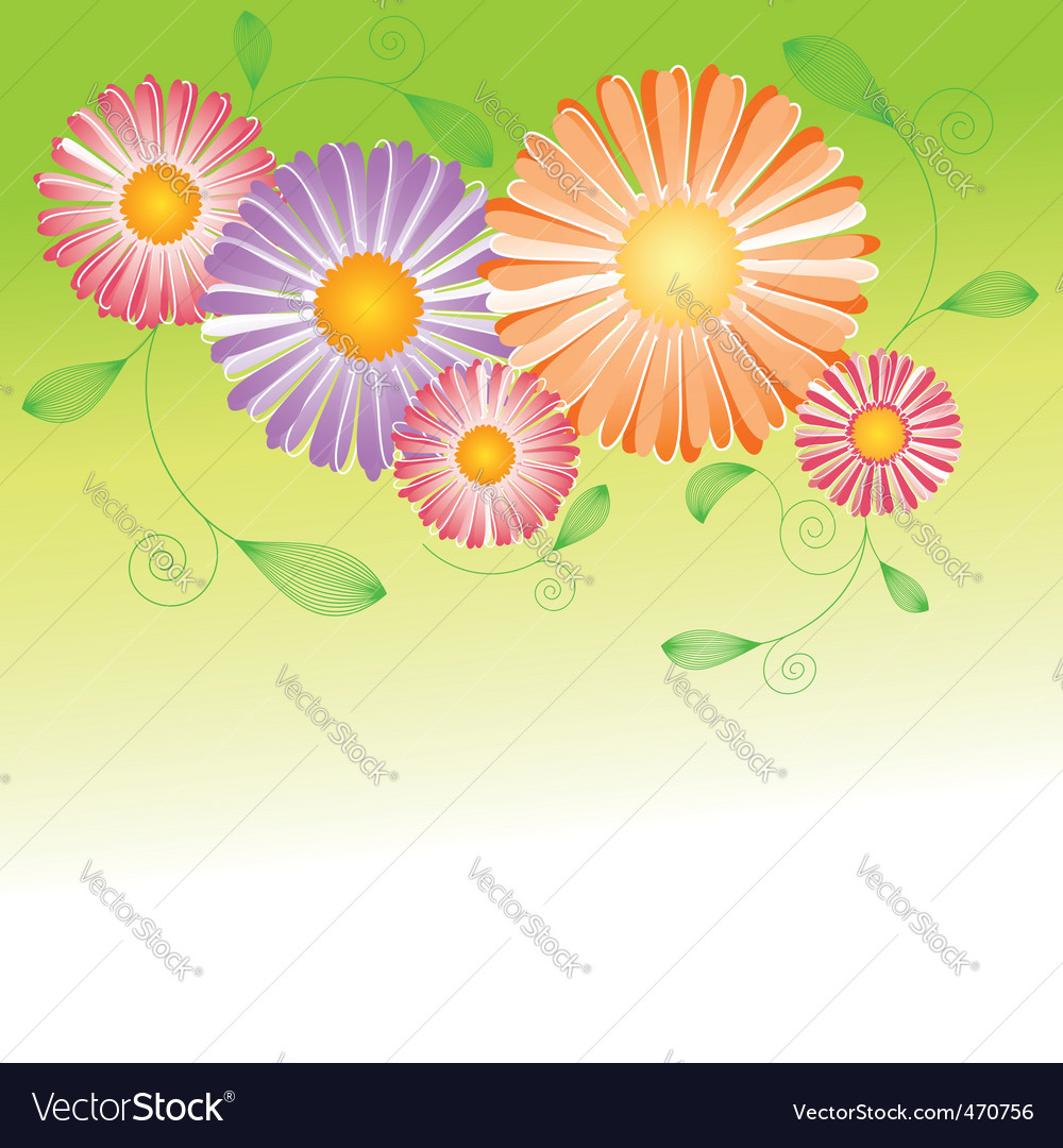 Springtime flower vector | Price:  Credit (USD $)