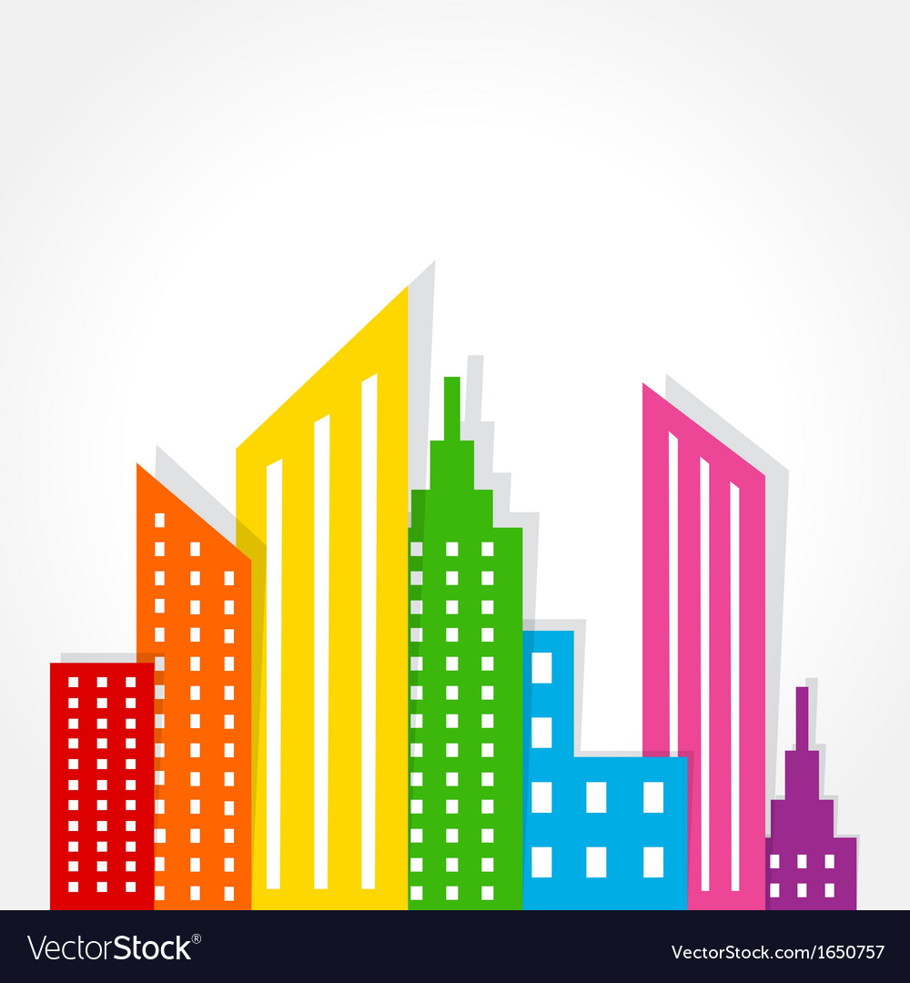 Abstract colorful building design vector | Price: 1 Credit (USD $1)