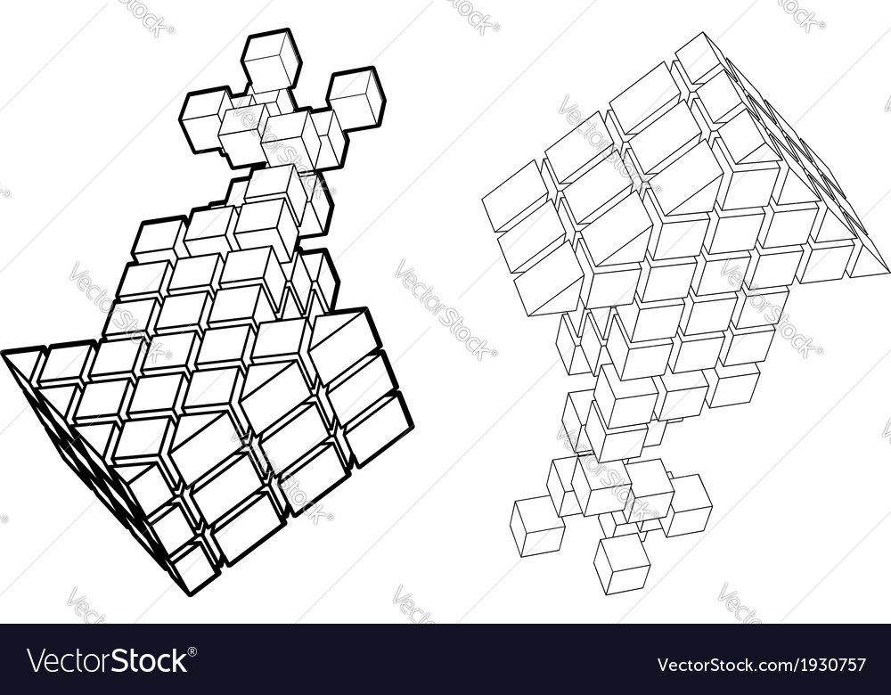 Arrow icon made of cubes vector | Price: 1 Credit (USD $1)