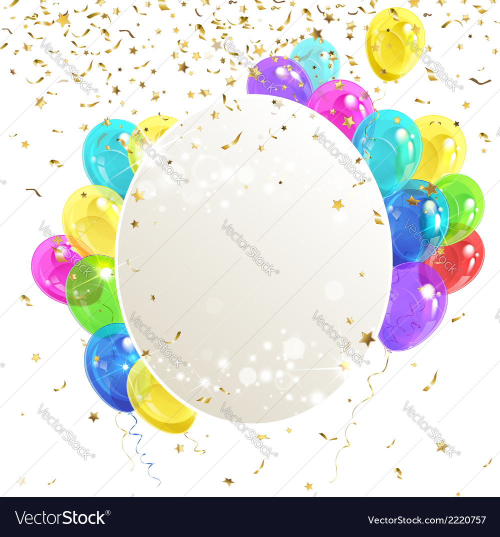 Banner with balloons vector | Price: 1 Credit (USD $1)