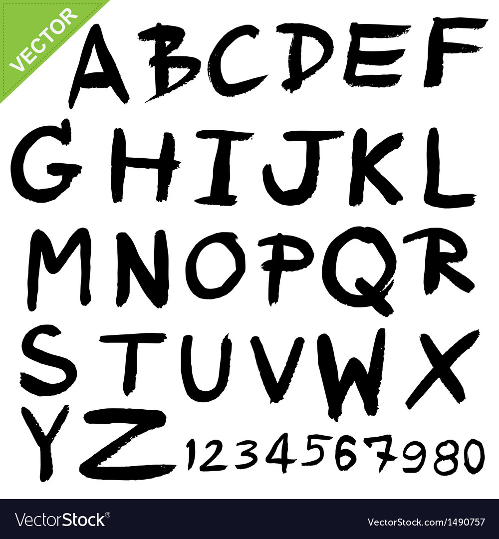 Capital alphabet brush vector | Price: 1 Credit (USD $1)