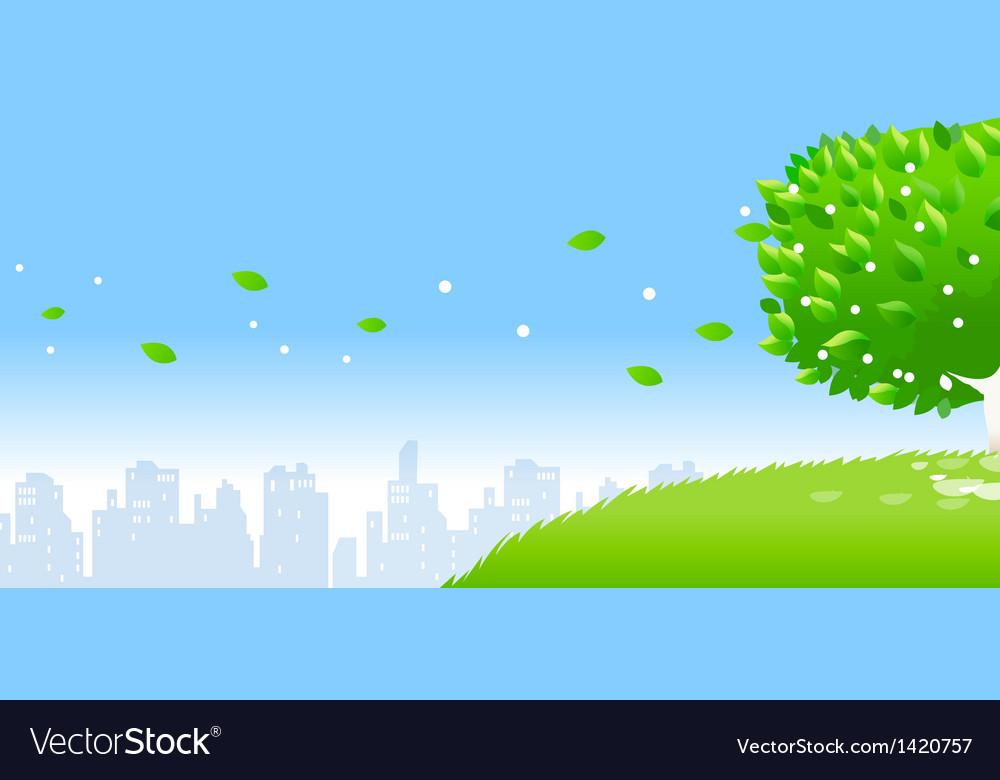 City skyline tree vector   Price: 1 Credit (USD $1)