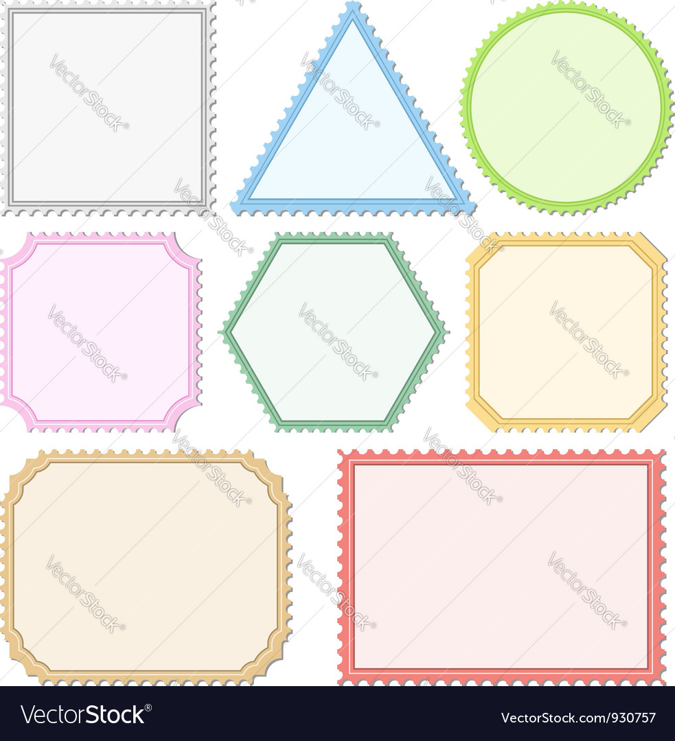 Color postage stamps vector | Price: 1 Credit (USD $1)