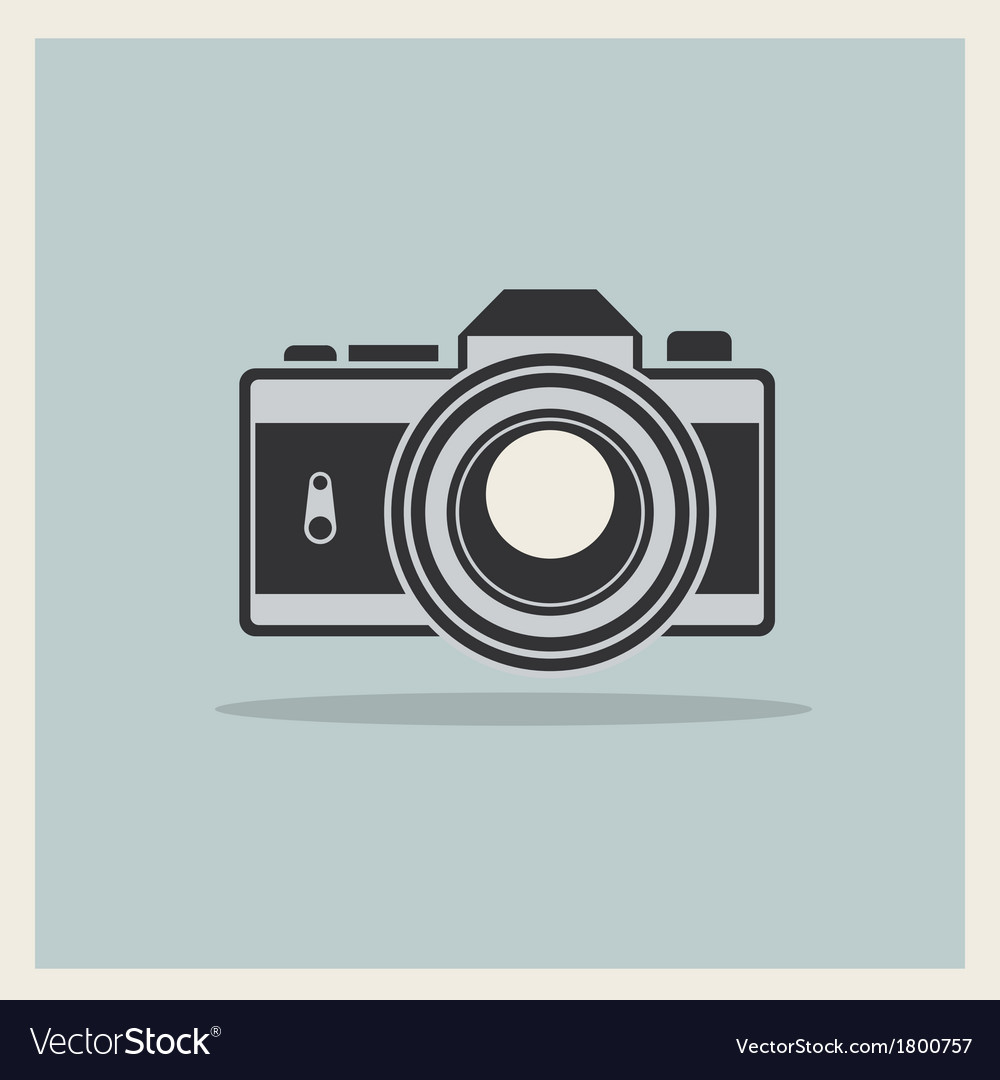 Dslr professional camera icon vector | Price: 1 Credit (USD $1)