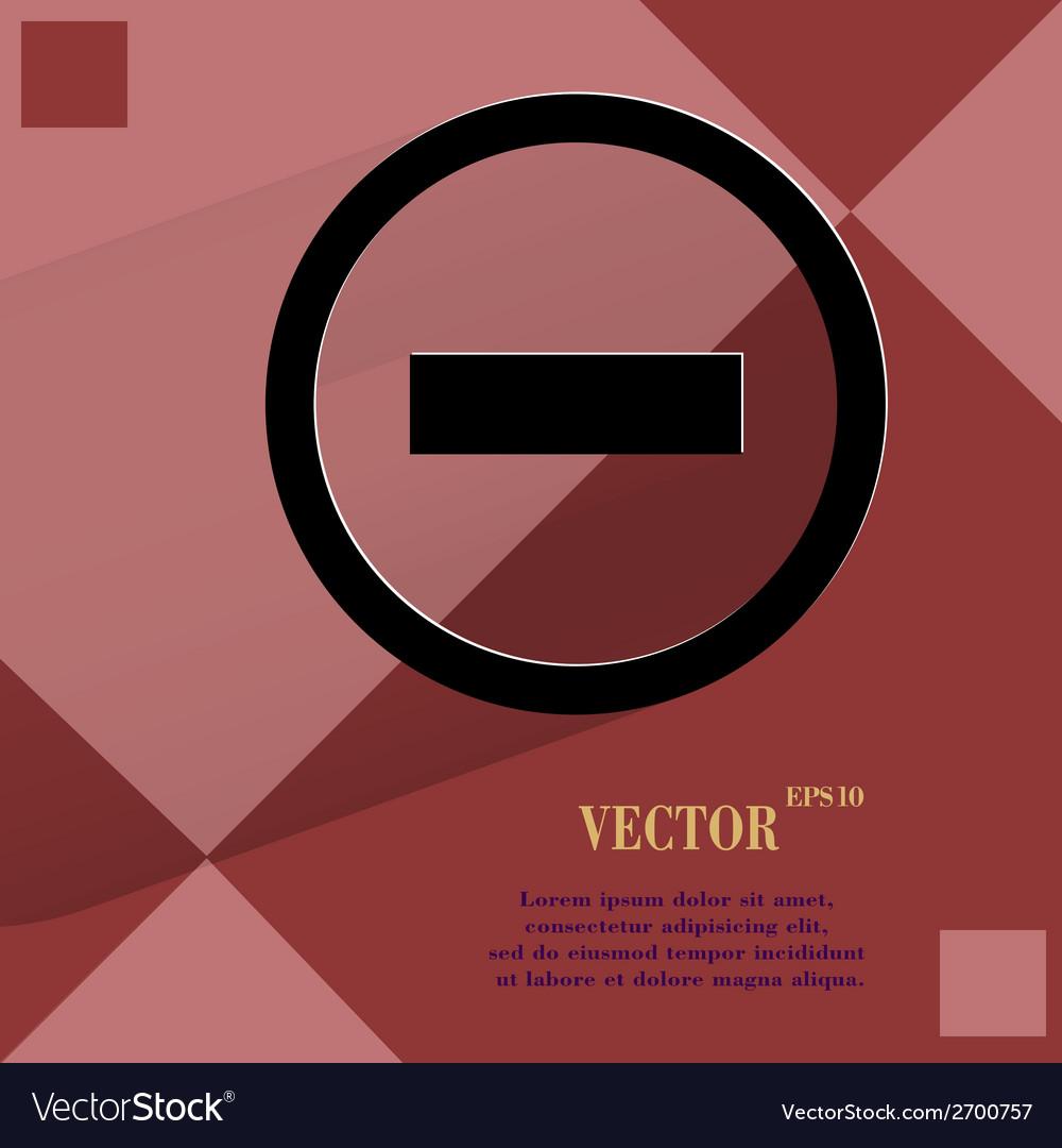 Minus flat modern web design on a flat geometric vector   Price: 1 Credit (USD $1)