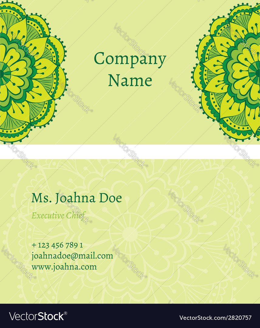 Oriental business card vector | Price: 1 Credit (USD $1)