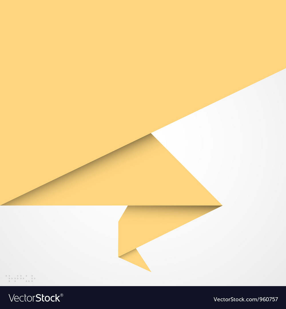 Paper origami banner vector | Price: 1 Credit (USD $1)
