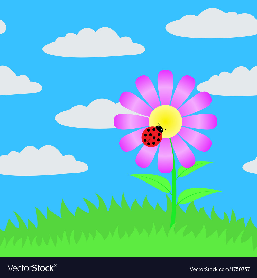 Seamless picture of a flower vector | Price: 1 Credit (USD $1)
