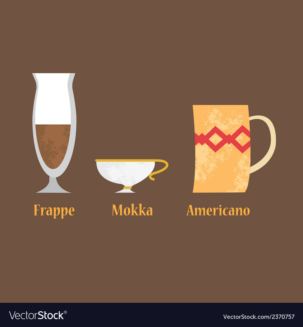 Set of coffe cups vector   Price: 1 Credit (USD $1)