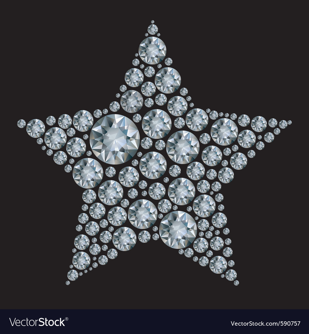 Star in diamonds vector | Price: 1 Credit (USD $1)