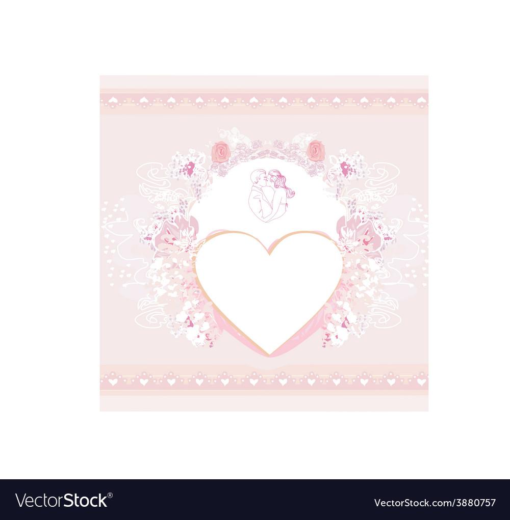 Valentine stylish card vector | Price: 1 Credit (USD $1)