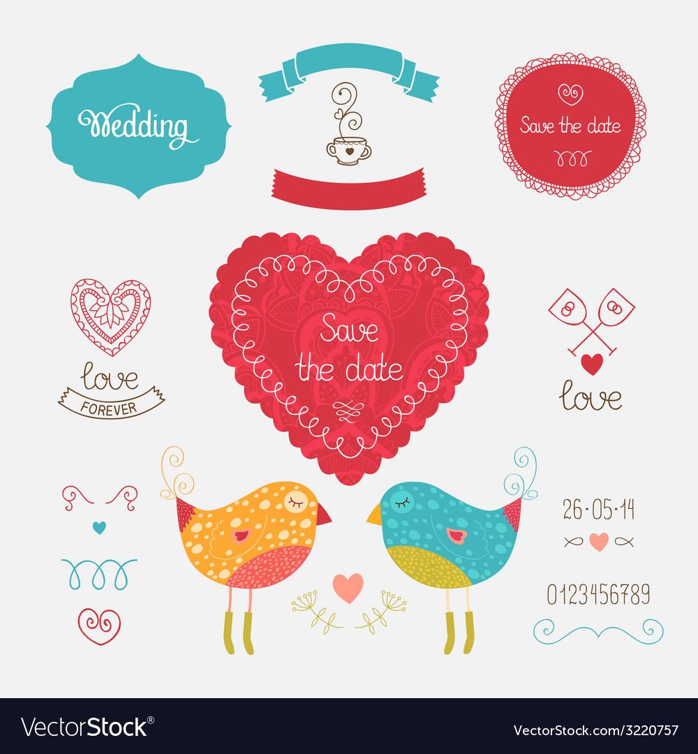 Wedding invitation collection vector | Price: 1 Credit (USD $1)