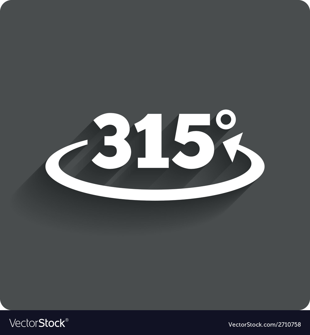 Angle 315 degrees sign icon geometry math symbol vector   Price: 1 Credit (USD $1)