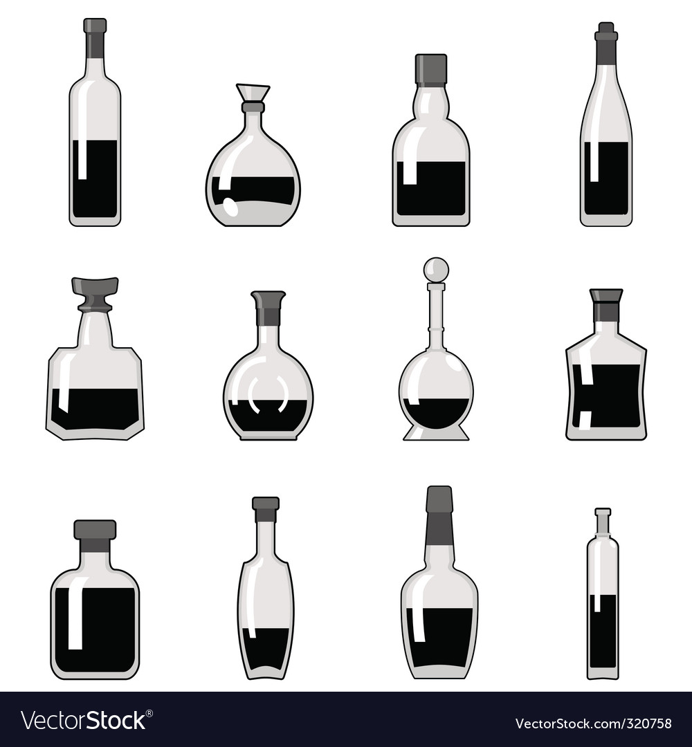 Bottle set vector | Price: 1 Credit (USD $1)