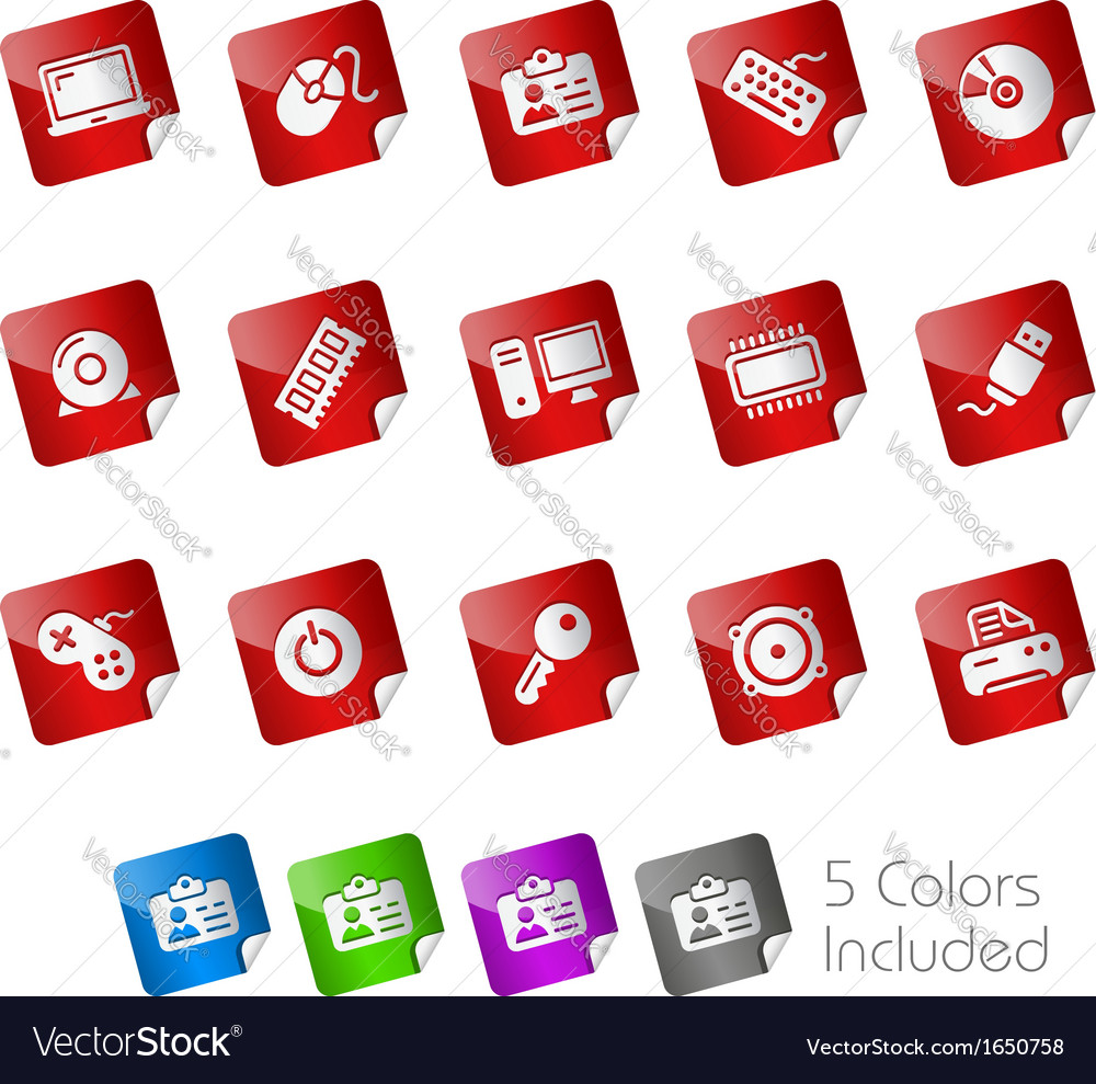 Computer devices stickers vector | Price: 1 Credit (USD $1)