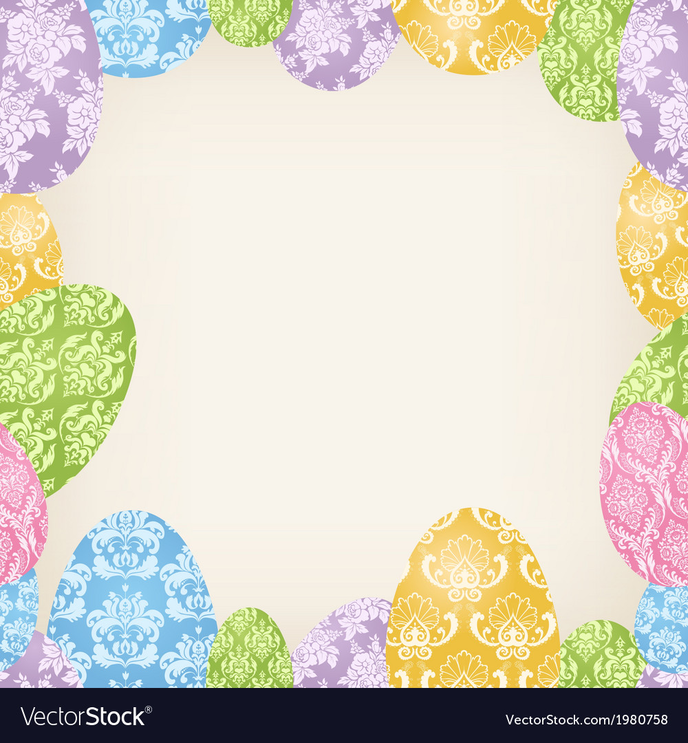 Easter eggs frame vector | Price: 1 Credit (USD $1)