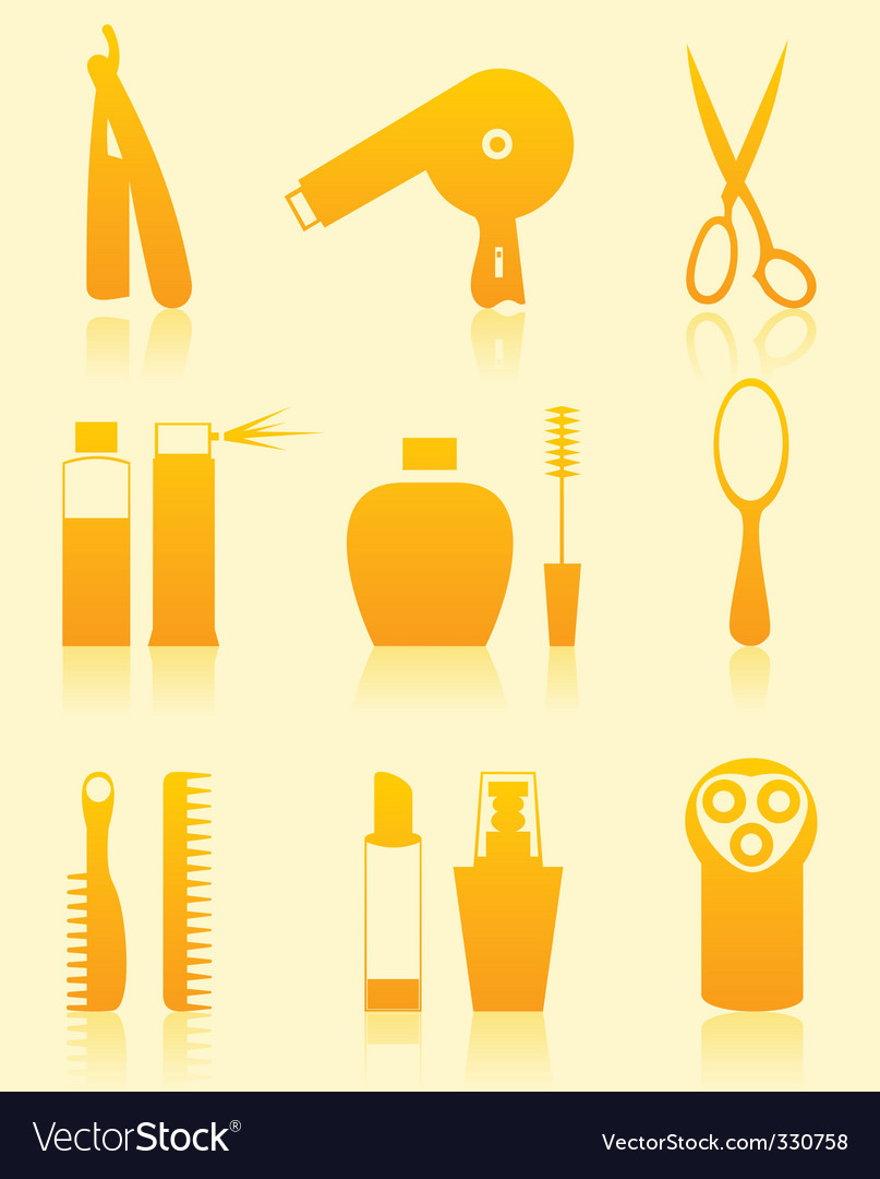 Hairdressing salon icons vector | Price: 1 Credit (USD $1)
