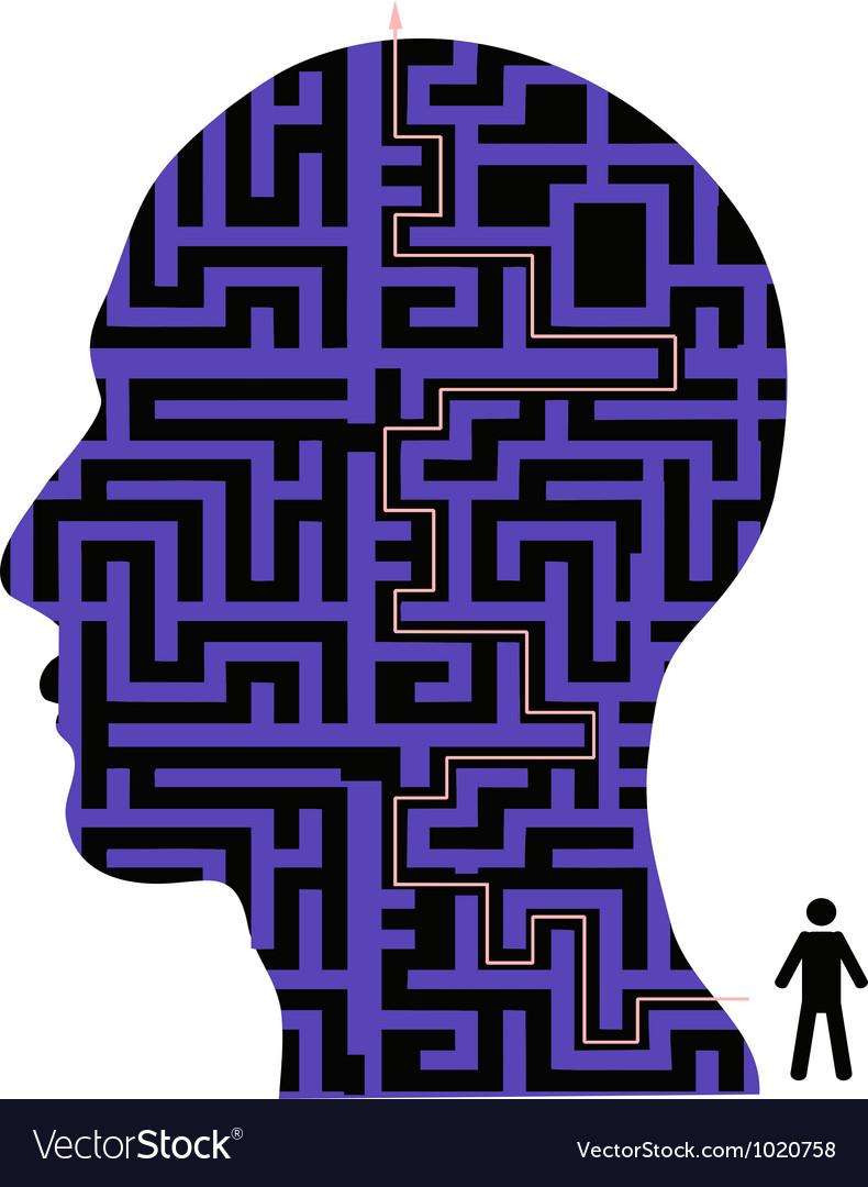 Human head maze vector | Price: 1 Credit (USD $1)