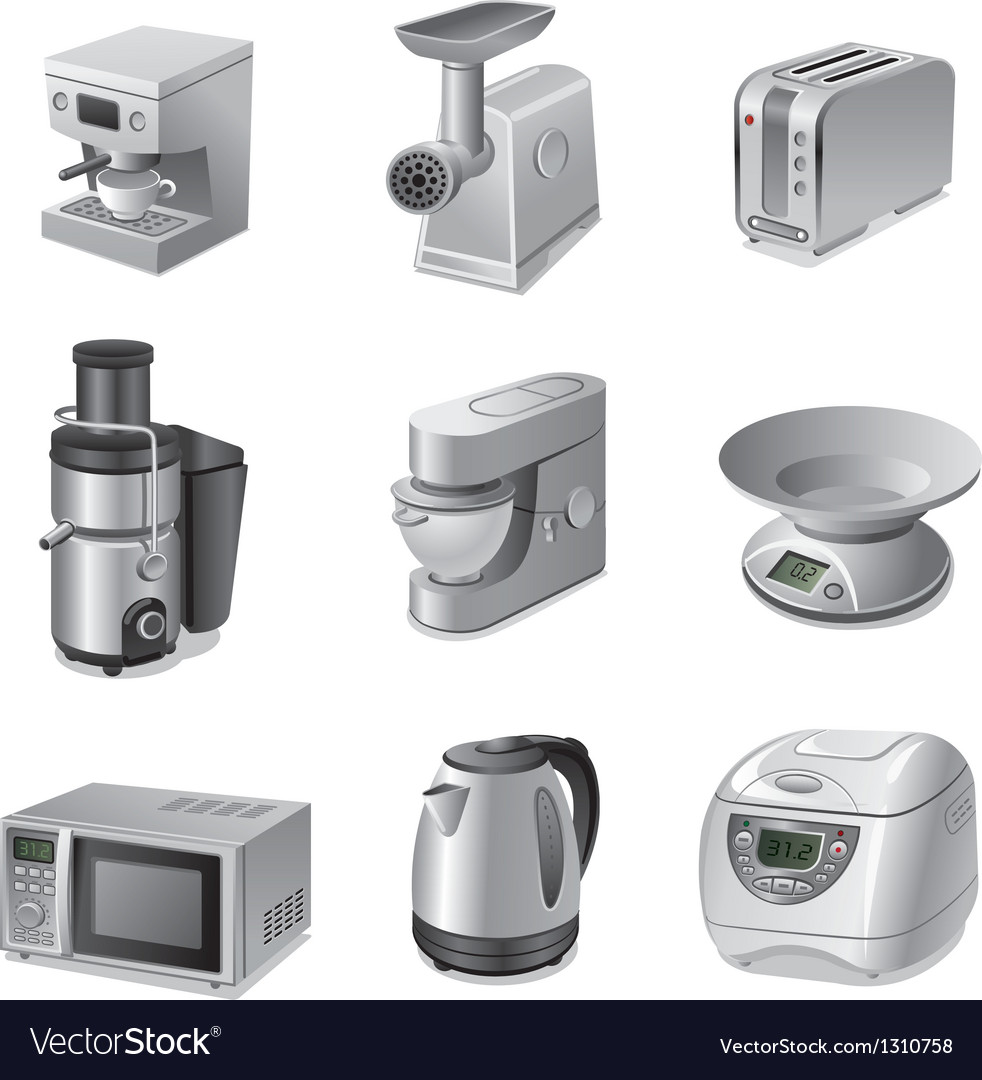 Kitchen appliances vector | Price: 3 Credit (USD $3)