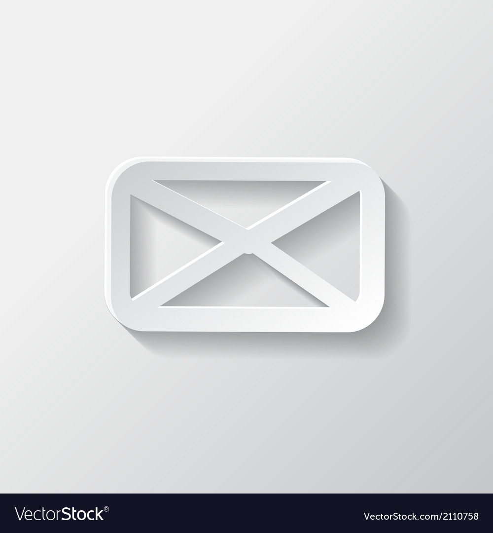 Letter icon email message sms vector | Price: 1 Credit (USD $1)