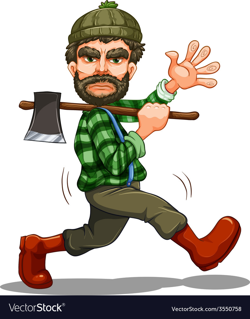 Lumberjack vector | Price: 3 Credit (USD $3)