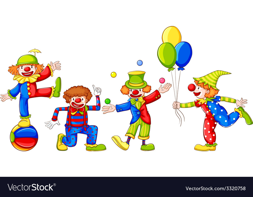 Playful clowns vector | Price: 3 Credit (USD $3)