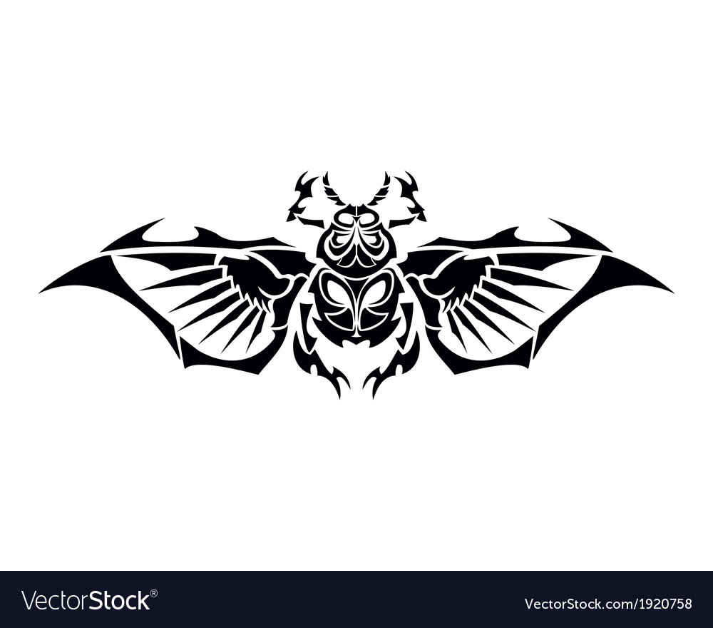 Scarab tribe tattoo vector | Price: 1 Credit (USD $1)