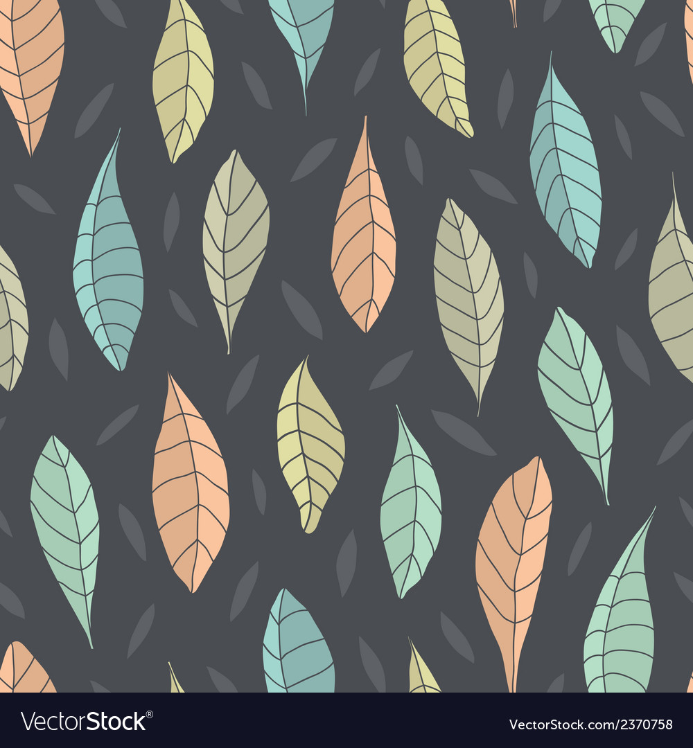 Seamless pattern with leaf vector | Price: 1 Credit (USD $1)