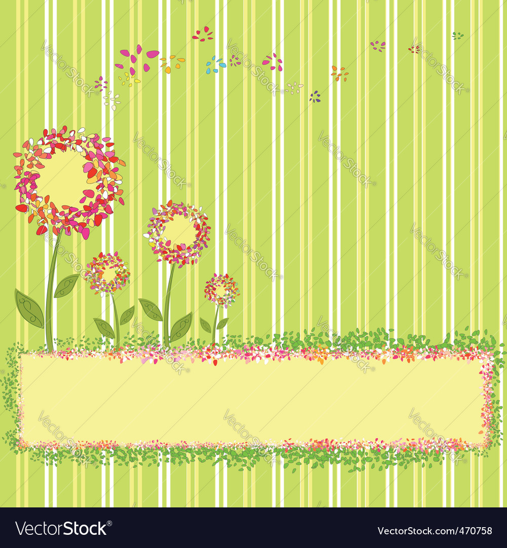 Springtime template vector | Price: 1 Credit (USD $1)