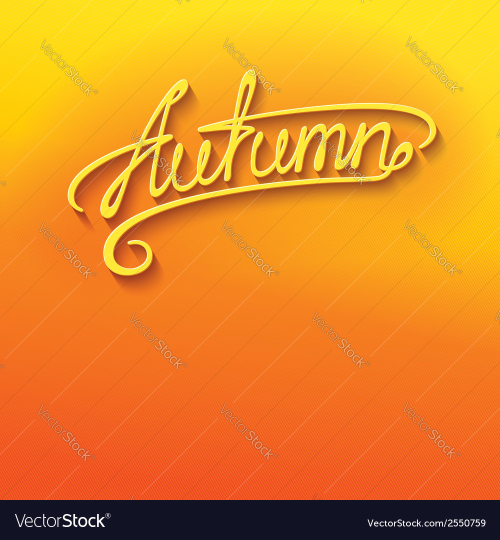 Autumn lettering vector | Price: 1 Credit (USD $1)