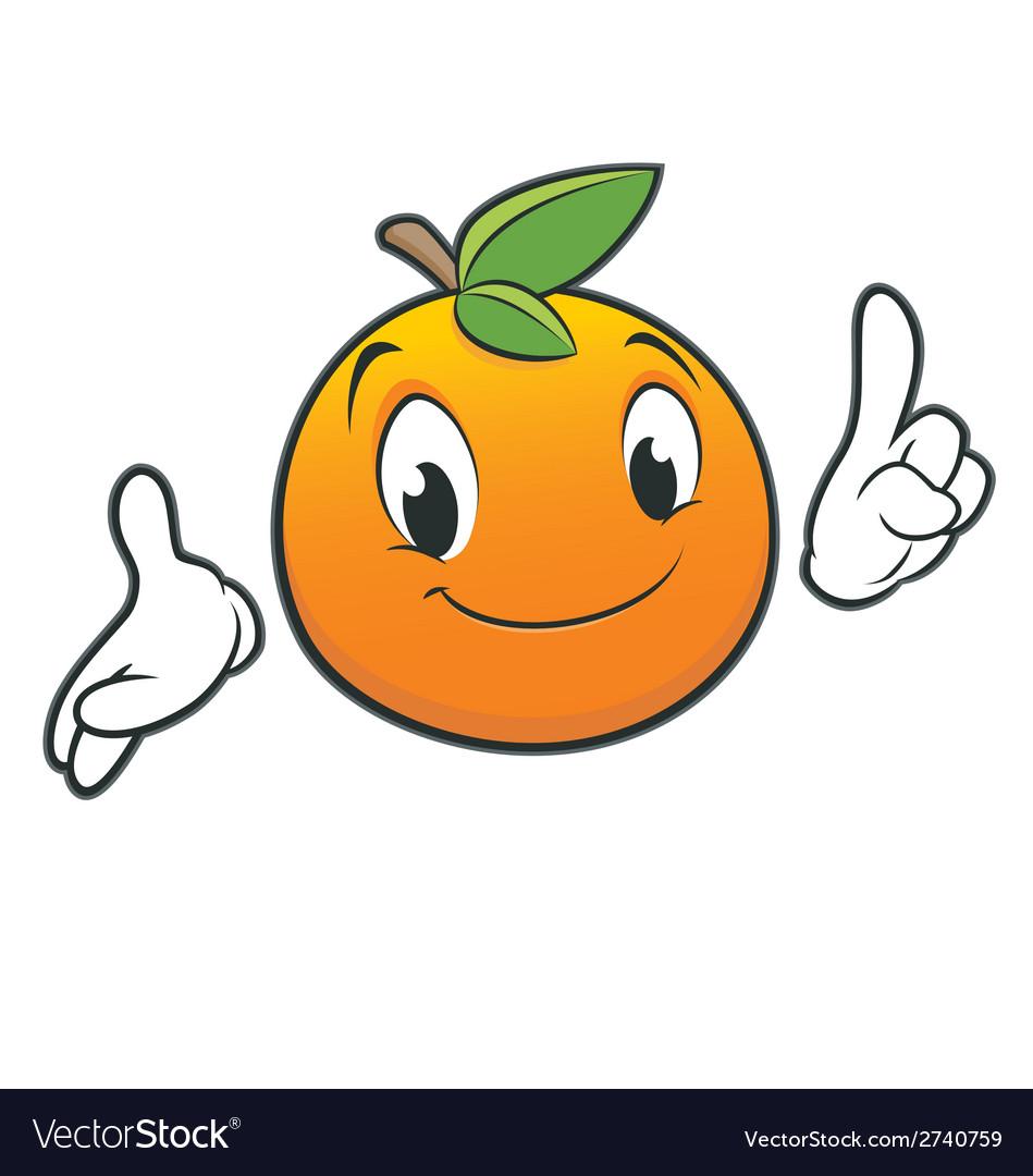 Cartoon orange vector | Price: 1 Credit (USD $1)