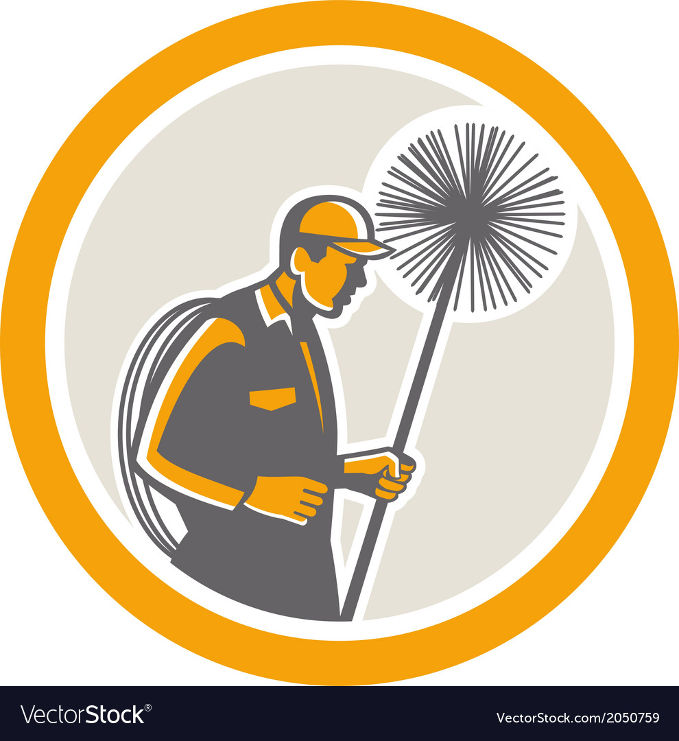 Chimney sweep worker retro vector | Price: 1 Credit (USD $1)