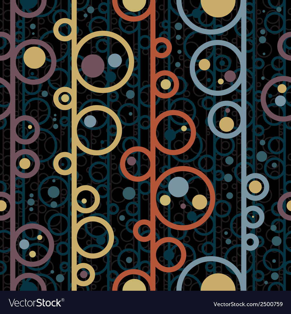 Disco style circles seamless pattern vector | Price: 1 Credit (USD $1)