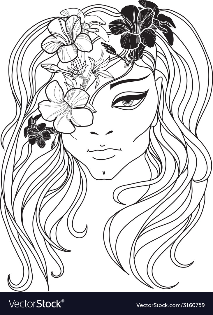 Flower girl 2 vector | Price: 1 Credit (USD $1)