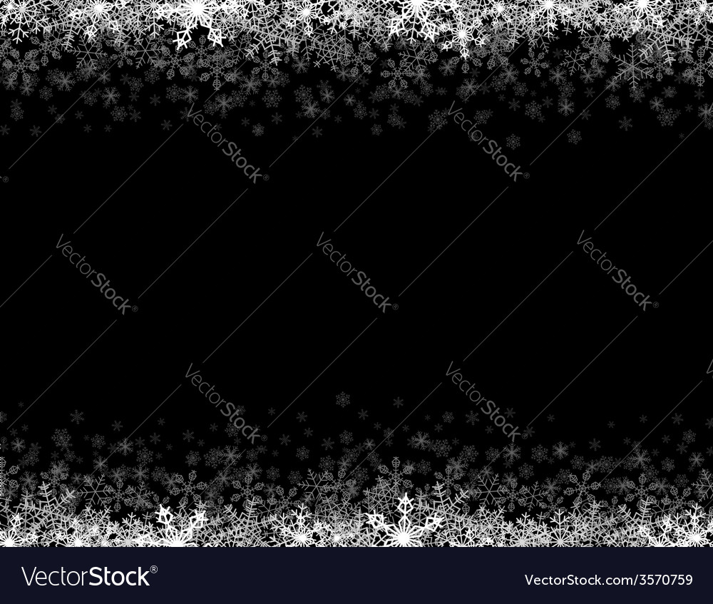 Frame with small snowflakes layered vector   Price: 1 Credit (USD $1)