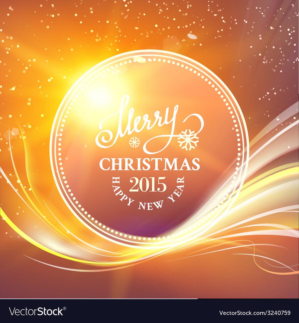 Futuristic christmas card vector | Price: 1 Credit (USD $1)