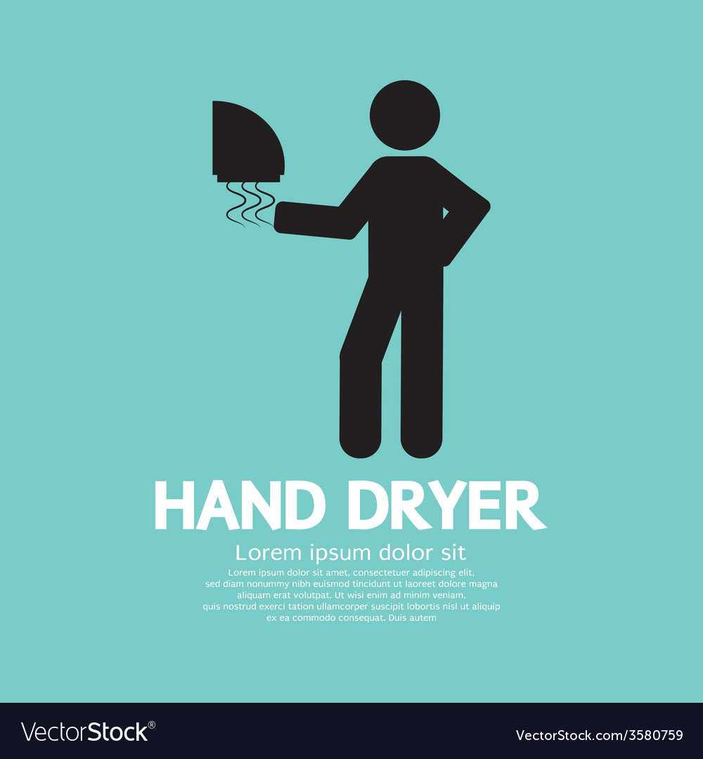 Hand dryer machine in public toilet vector | Price: 1 Credit (USD $1)