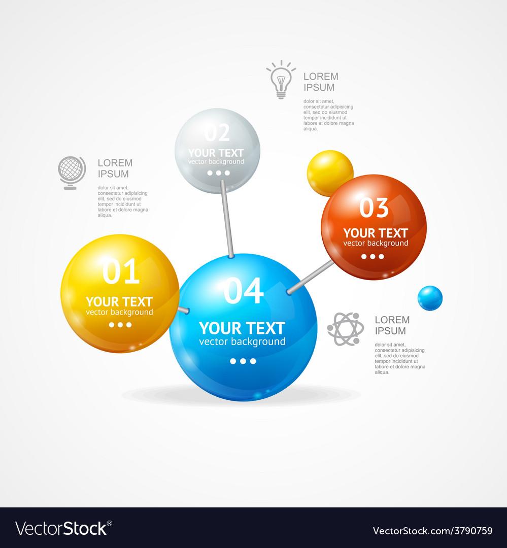 Infografic molecule vector | Price: 1 Credit (USD $1)