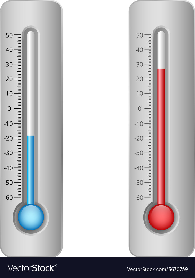 Thermometers vector | Price: 1 Credit (USD $1)