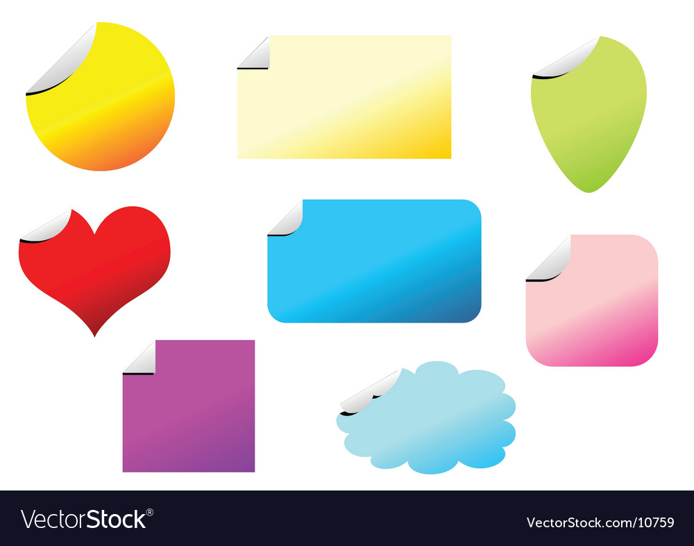 Promotional stickers set vector | Price: 1 Credit (USD $1)