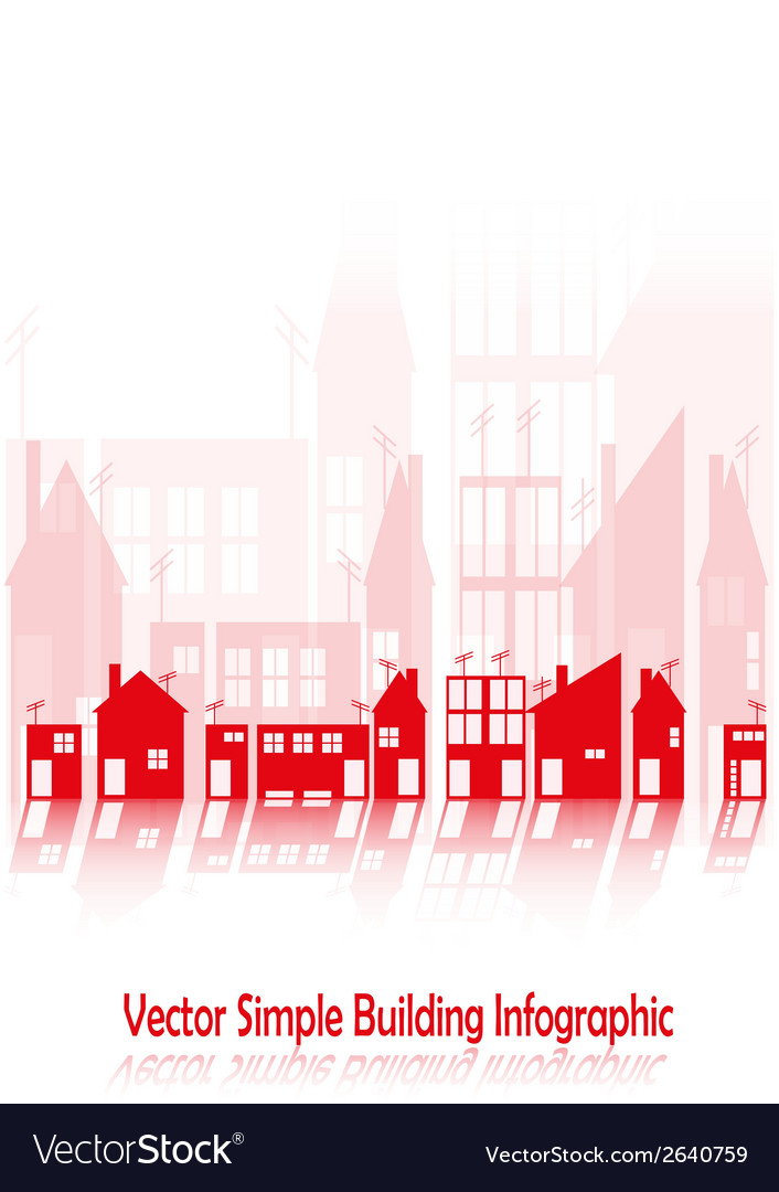 Simple buildings vector | Price: 1 Credit (USD $1)